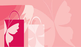 Shopping butterfly background Stock Photography
