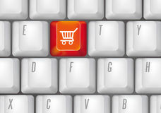 Shopping button Stock Images