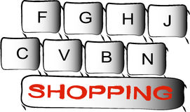 Shopping button Royalty Free Stock Image