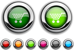 Shopping button. Stock Images