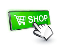 Shopping button icon Royalty Free Stock Photos
