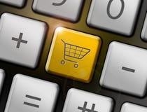 Shopping button Stock Photography