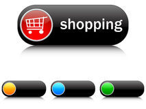 Shopping buttons. Isolated on white Stock Images