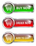 Shopping buttons Royalty Free Stock Images