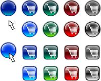 Shopping buttons. Stock Image