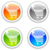 Shopping buttons. Stock Photography