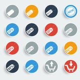 Shopping buttons. Icon Vector illustrator EPS 10 royalty free illustration