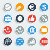 Shopping buttons. Icon Vector illustrator EPS 10 Stock Photography