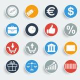 Shopping buttons. Icon Vector illustrator EPS 10 vector illustration