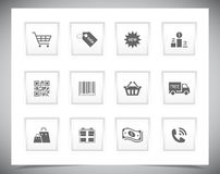 Shopping buttons Stock Image