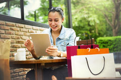 Shopping Buying Commerce Customer Happiness Concept Royalty Free Stock Photo