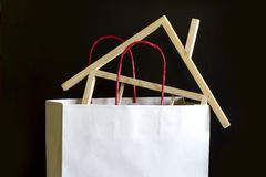 Shopping and buying a house concept Royalty Free Stock Images