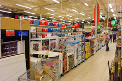 Shopping at canadian tire Royalty Free Stock Photos