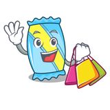 Shopping candy character cartoon style vector illustration