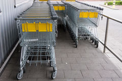 Shopping car. shopping trolley, shopping business Stock Photography