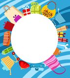Shopping card. Illustration of a shopping card Stock Photos
