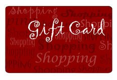 Shopping Card. Gift card for shopping drawn in Illustrator CS2 Stock Photo