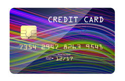 Shopping card blue lines Stock Photo