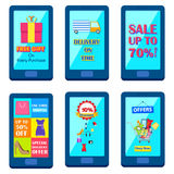 Shopping Carnival Sale Poster for mobile application Royalty Free Stock Photos