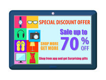 Shopping Carnival Sale Poster for mobile application Royalty Free Stock Photo