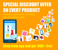 Shopping Carnival Sale Poster for mobile application Stock Photos