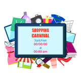 Shopping Carnival Sale Poster Stock Images