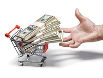Shopping carriage Stock Images