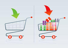 Shopping cart 1. Shopping cart vector drawing 1 Vector Illustration