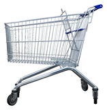 Shopping cart. Empty shopping trolley issolated with clipping path Stock Photo