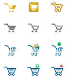 Shopping cart. Icon set various style Royalty Free Stock Images