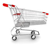 Shopping cart. With clipping path Stock Images