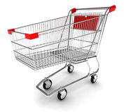 Shopping cart. With clipping path Royalty Free Stock Images