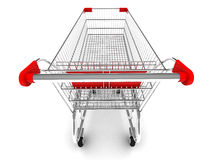 Shopping cart. With clipping path Royalty Free Stock Photography
