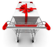 Shopping cart. With clipping path Stock Image