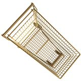 Shopping cart. 3d golden shopping cart isolated top view Stock Photography