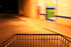 Shopping cart. In a supermarket Stock Photos