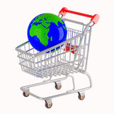 Shopping cart. Stock Photos