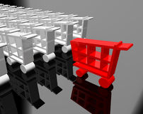 Shopping cart. 3d image of shopping cart vector illustration