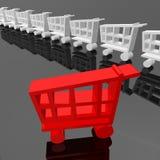 Shopping cart Stock Photo