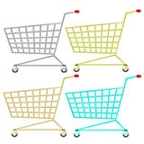 Shopping cart. Illustration of shopping cart. Shopping trolley Royalty Free Stock Photography