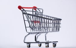 Shopping cart. Picture of isolated shopping cart stock photography