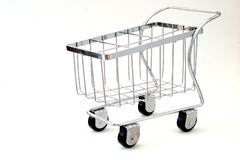 Shopping Cart. A shopping cart on a white background Royalty Free Stock Photography