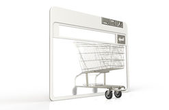Shopping cart. Internet browser window with Shopping Cart Stock Image