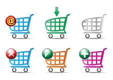 Shopping cart. Illustration of shopping cart on white background Royalty Free Stock Images