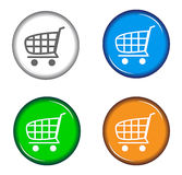 Shopping cart. Illustration of shopping cart on white background Royalty Free Stock Photos