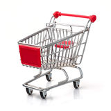 Shopping Cart. A Shopping Cart Isolated On White Royalty Free Stock Photography