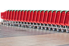 Shopping cart. S in a row Stock Photography