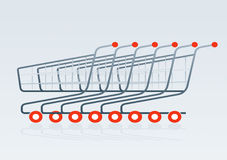 Shopping cart 2. Shopping cart vector drawing 2 Vector Illustration