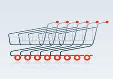 Shopping cart 2. Shopping cart vector drawing 2 Stock Photos