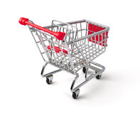 Shopping Cart. A Shopping Cart Isolated On White Stock Photo